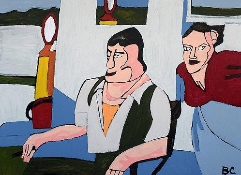Carlo Buyck - man en vrouw aan benzinestation