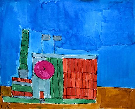 Luc Van Muylder - groen en rode fabriek