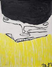zwart portret met gele strepen