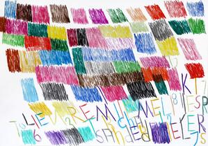 cijfers, letters en vlakken in kleur 1