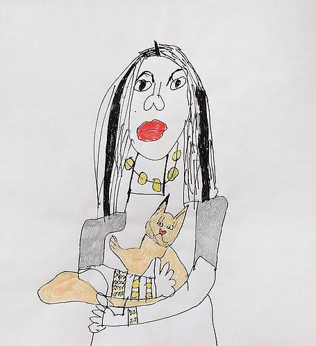 Monica Laroche - vrouw met poes (van mij!)