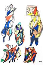 kleurrijke vogelmensen
