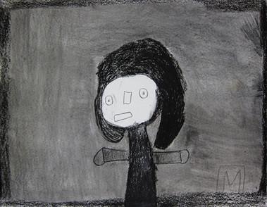 figuur op grijze achtergrond