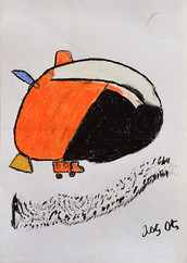 oranje voertuig