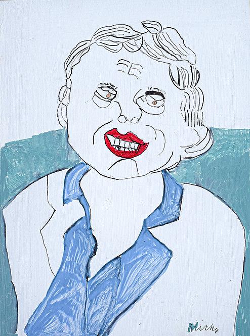 Inge Van Rompaey - uitgedoste man met rode lippen