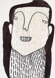 vrouw met lang zwart haar