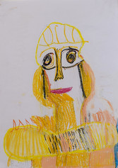 Geel portret