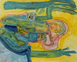 vrouw met twee kinderen