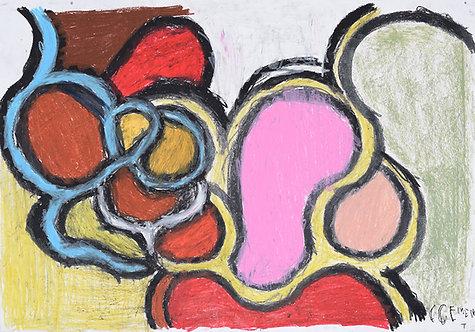 Clement Cretoir - cirkels en bogen - roze