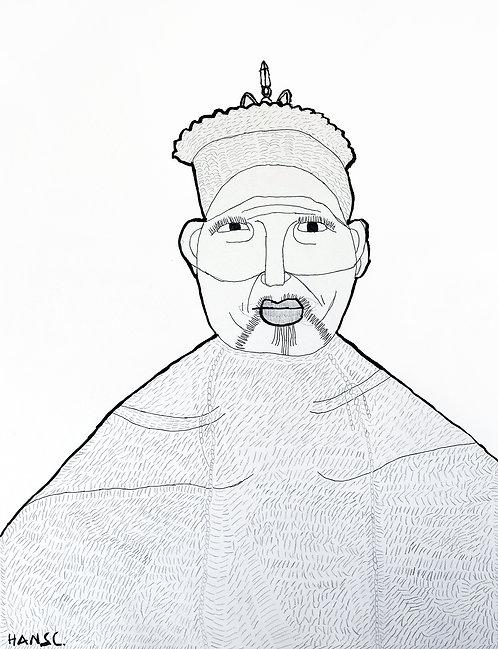 Hans Cortebeeck - oude chinese man