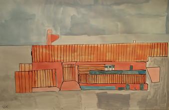 oranje gebouw