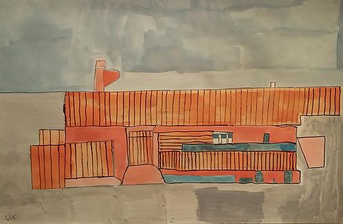 Luc Van Muylder - oranje gebouw