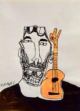 Jan De Smet met gitaar