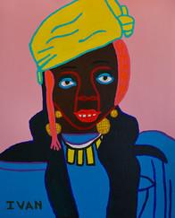 vrouw met tulband