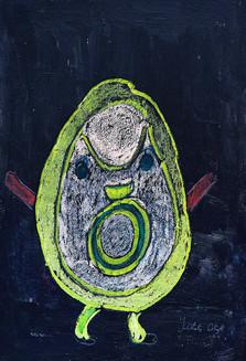 figuur in geel en groen