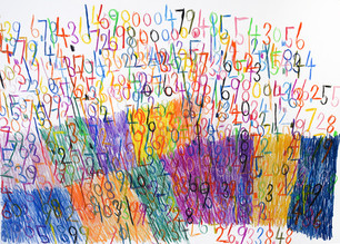 cijfers en vlakken in kleur 4