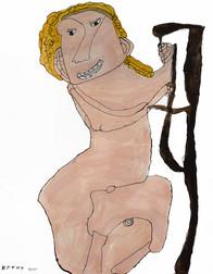 naakte vrouw met blond haar