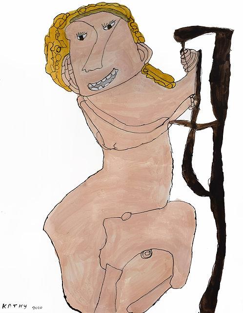 Kathy De Decker - naakte vrouw met blond haar