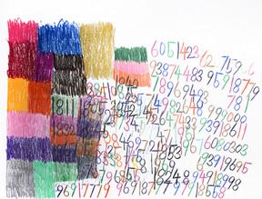 cijfers en vlakken in kleur 3