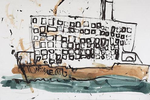 Georg Verstrepen - cruiseschip met veel ramen