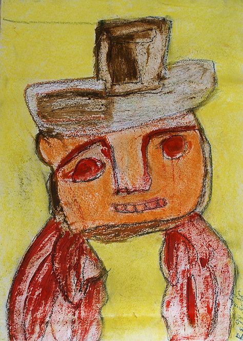 Rozette Goovaerts - mannetje met hoed