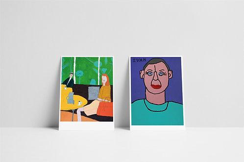 Postkaartenset 3 - vijf stuks - 2020