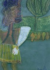 vrouw in een bos