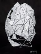 witte abstracte figuur