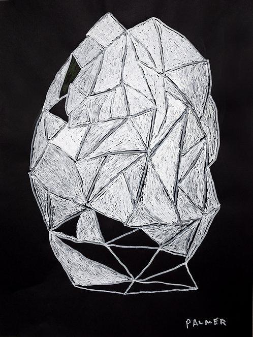Palmer Nuyttens - witte abstracte figuur