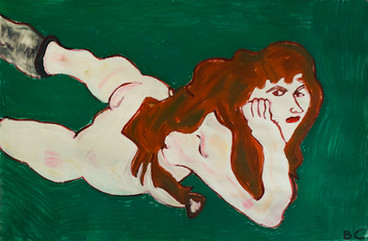 naakte liggende vrouw