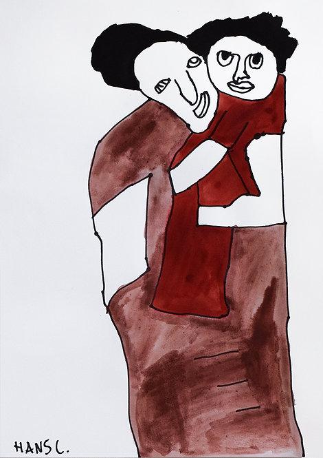 Hans Cortebeeck - moeder en kind