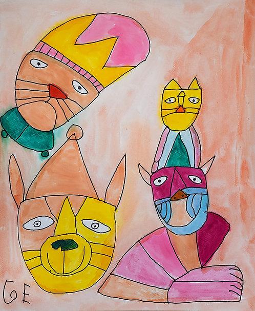 Jef Cloostermans - vier poezen bij elkaar