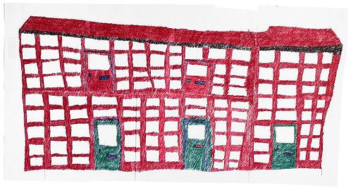 Jan Wuyts - collage van papier met gebouw 3