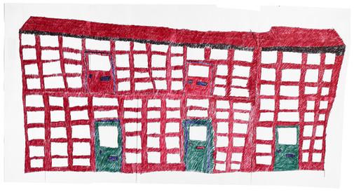 collage van papier met gebouw 3
