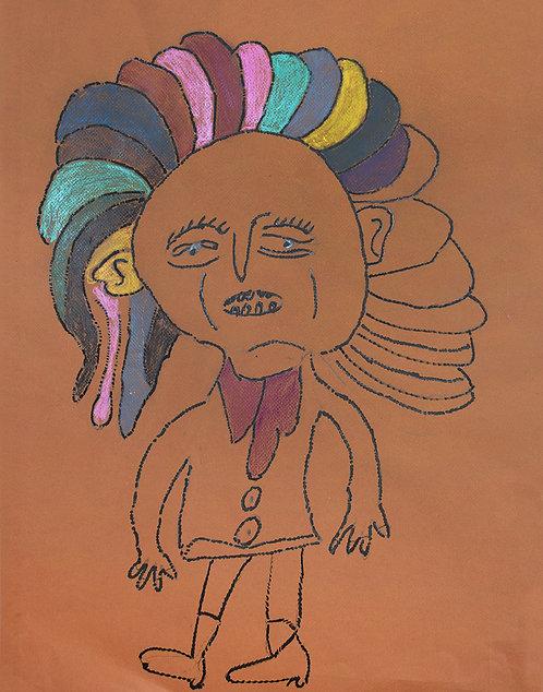 Jean Dillen - man met kleurrijke haren