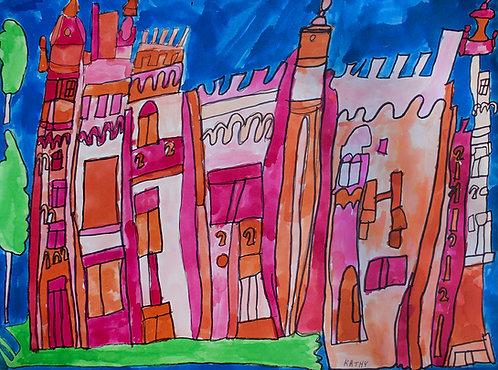 Kathy De Decker - roze sprookjeskasteel