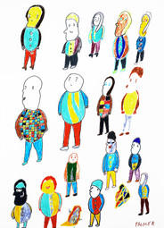 kleurrijke mensen bij elkaar