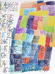 cijfers en vlakken in kleur 1