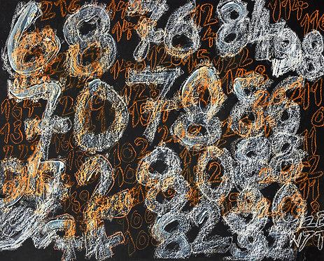 Wytze Hingst - witte cijfers op zwart en oranje