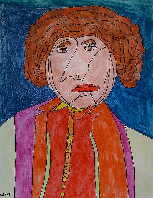 Kathy De Decker - man met rosse krullen