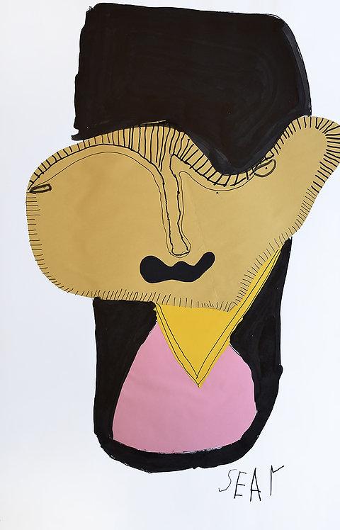 Sylvain Serneels - gezicht in zwart vlak