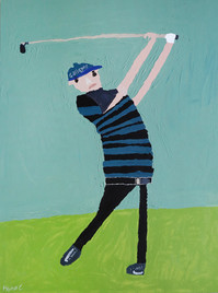 golfer op groen