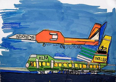 Georg Verstrepen - twee kleurrijke vliegtuigen