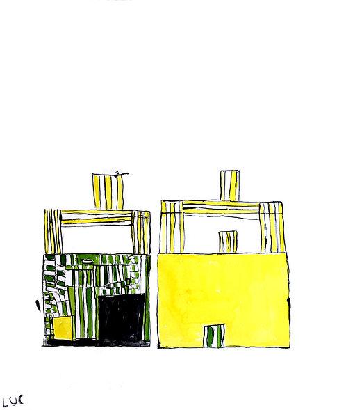 Luc Van Muylder - gele gebouwen