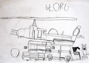 bus met helikopter en poes