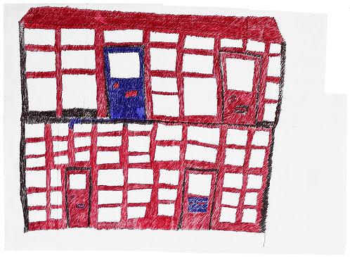 Jan Wuyts - collage van papier met gebouw 1