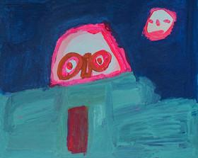 roze figuur komt piepen