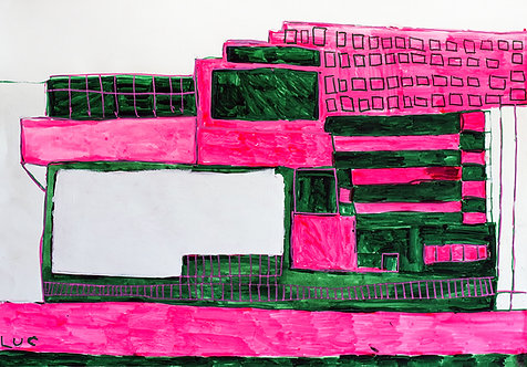Luc Van Muylder - Gebouwen in fluoroos