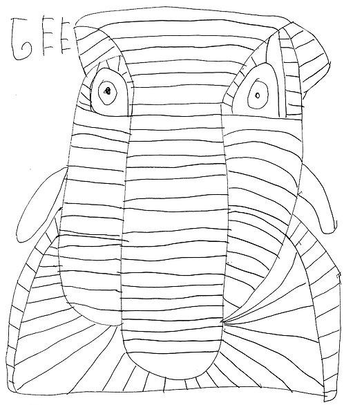 Jef Cloostermans - lijntekening met grote neus