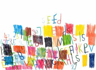 cijfers, letters en vlakken in kleur 2